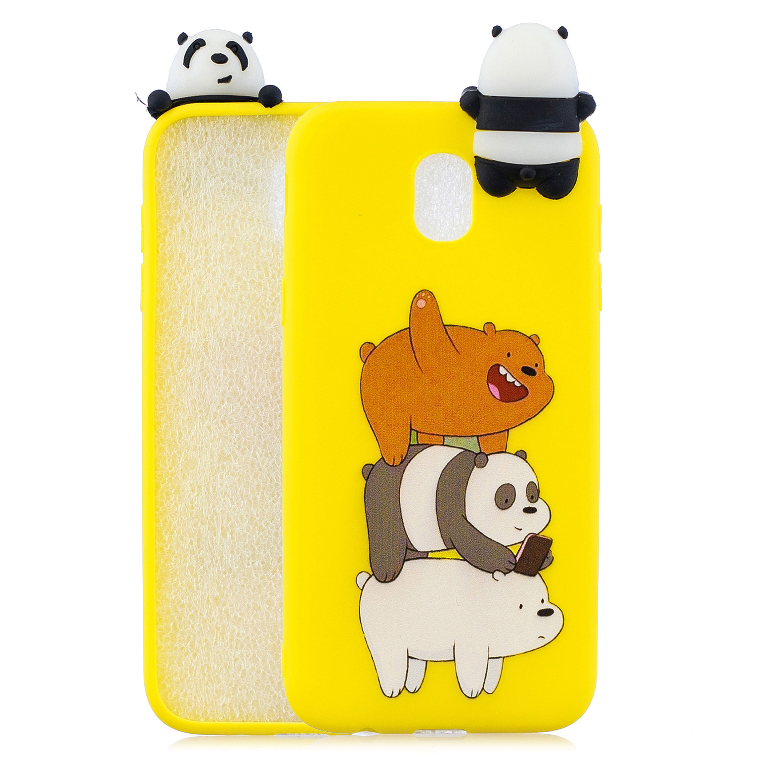For Redmi 8A 3D Cartoon Painting Back Cover Soft TPU Mobile Phone Case Shell Striped bear