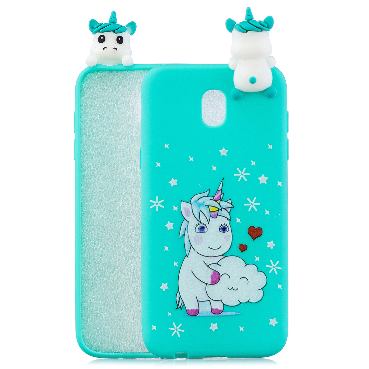 For Redmi 8A 3D Cartoon Painting Back Cover Soft TPU Mobile Phone Case Shell Love Unicorn