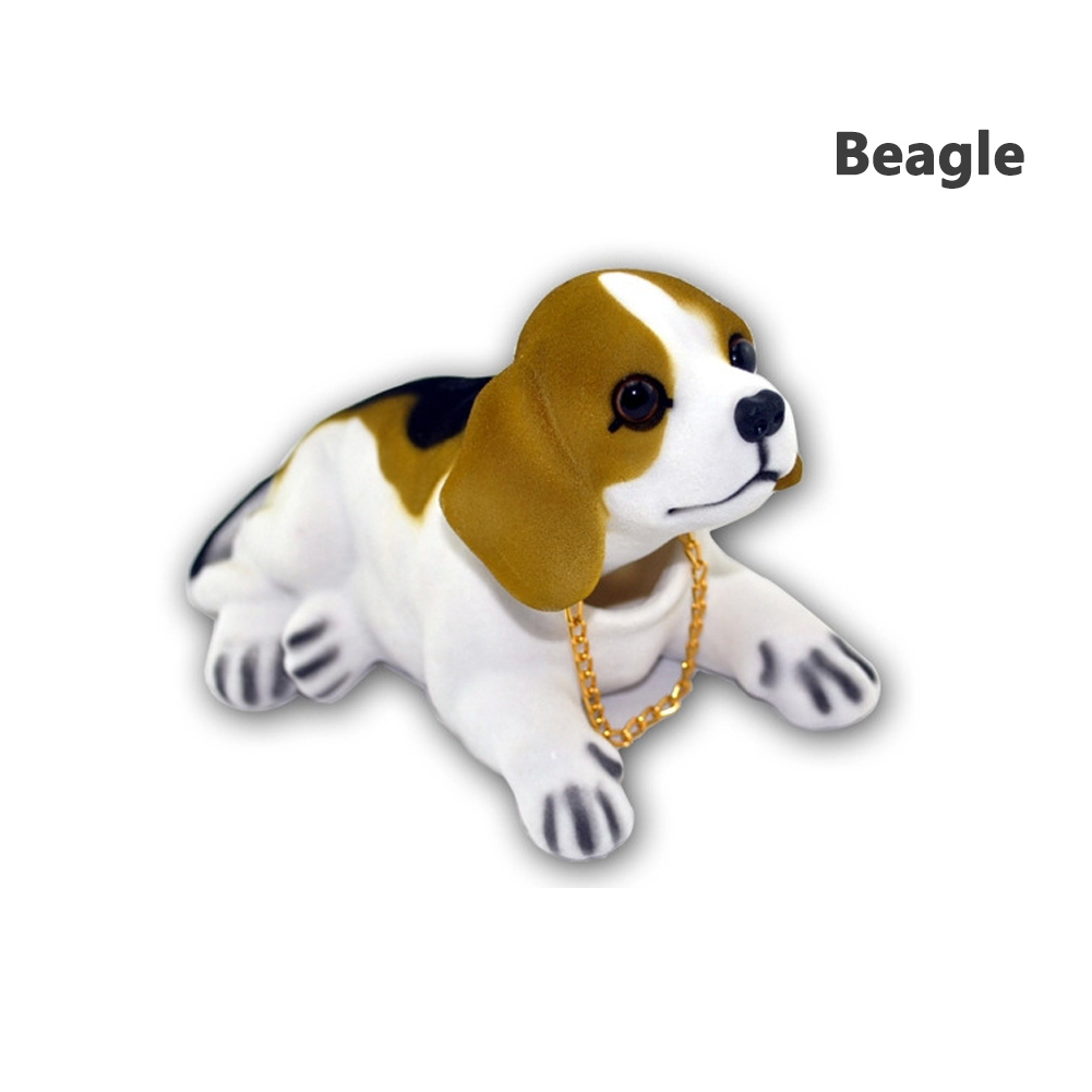 Bobble Head Dogs Bobbing Heads Car Dash Ornaments Puppy for Car Vehicle Beagle