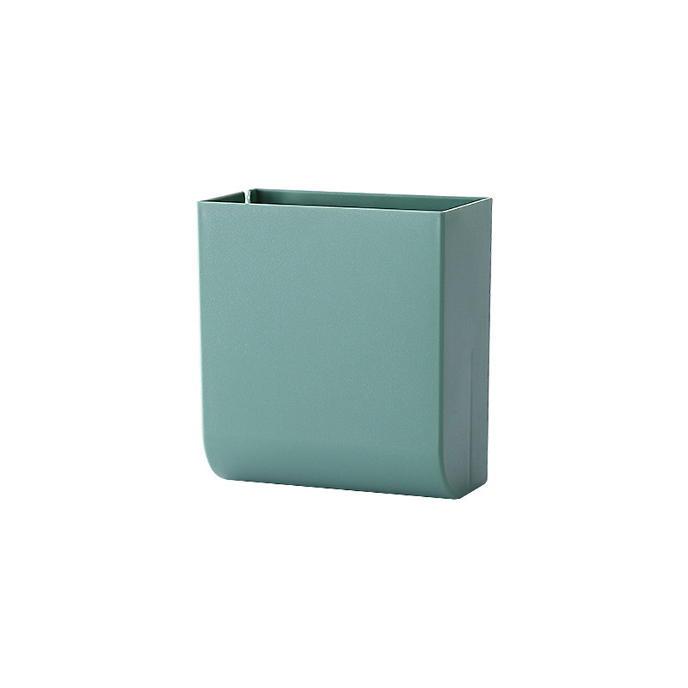 Wall Hanging Storage Box Multifunction Remote Control Storage Case Mobile Phone Plug Holder Stand Container green
