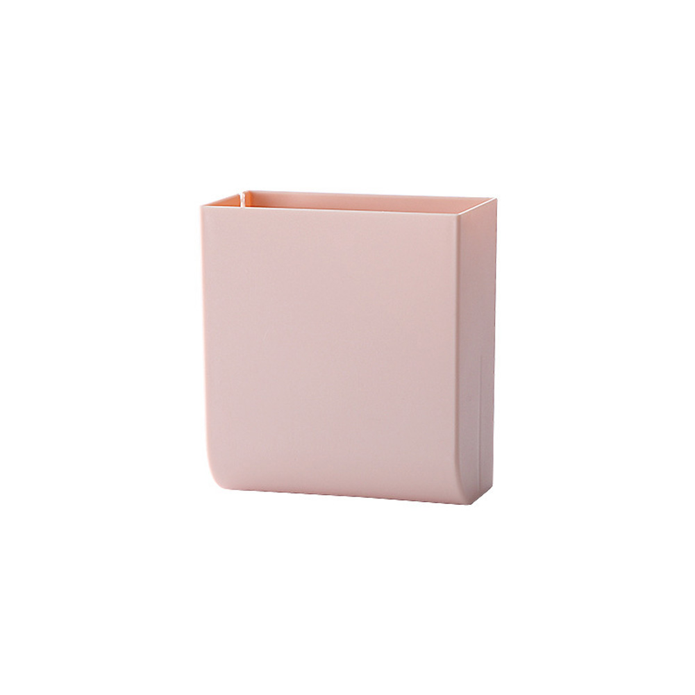 Wall Hanging Storage Box Multifunction Remote Control Storage Case Mobile Phone Plug Holder Stand Container Pink