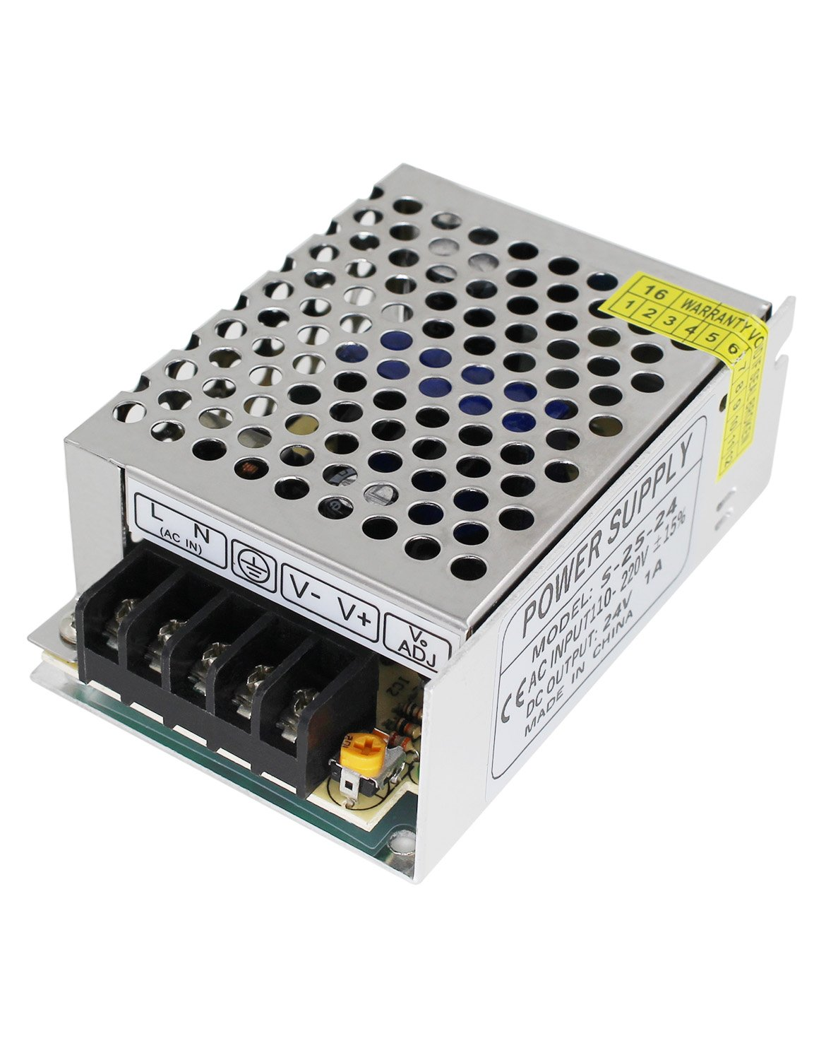 110V/220V AC to DC 24V Switch Power Supply Driver Power Transformer for CCTV Camera/Security System/LED Strip Light/Radio/Computer Project