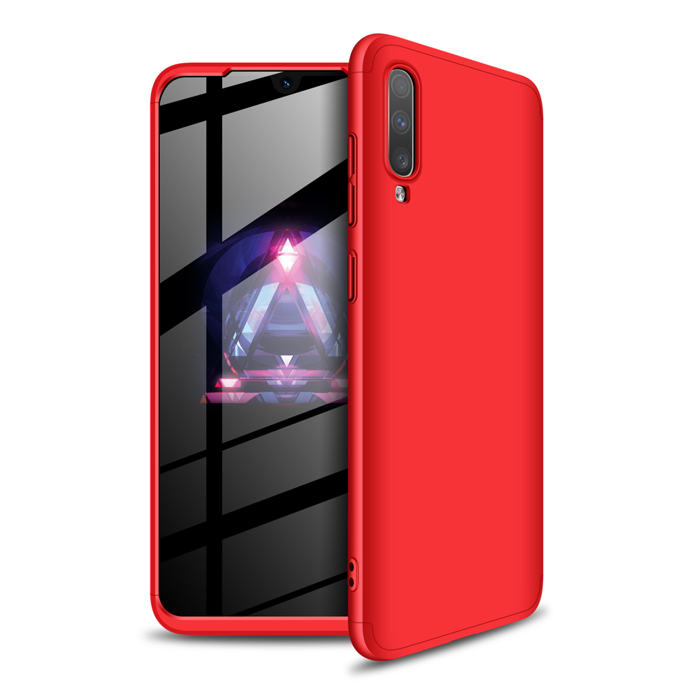 For Samsung A70 Ultra Slim PC Back Cover Non-slip Shockproof 360 Degree Full Protective Case red