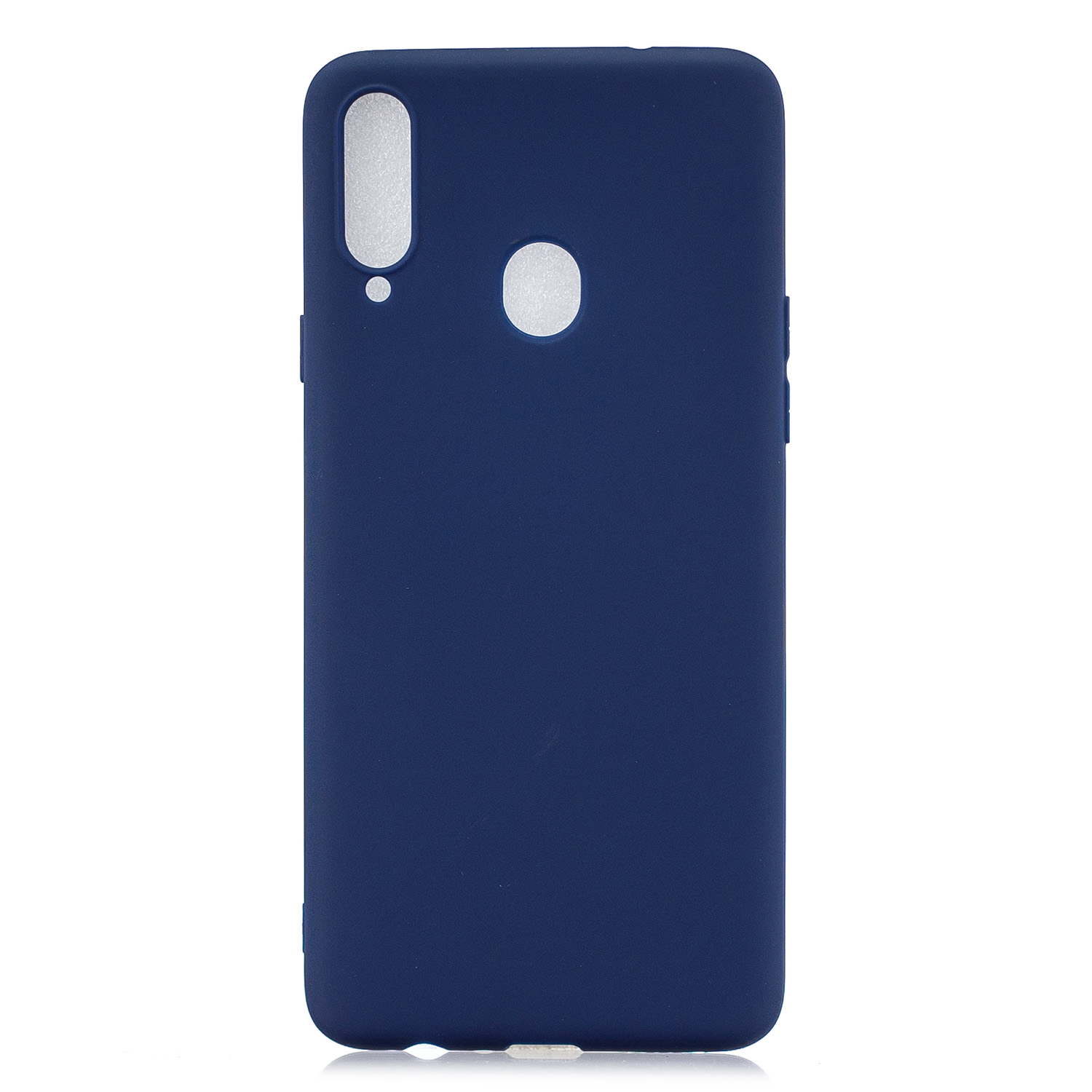 For Samsung A10S A20S Shockproof TPU Back Cover Soft Candy Color Frosted Surface Mobile Phone Case Navy