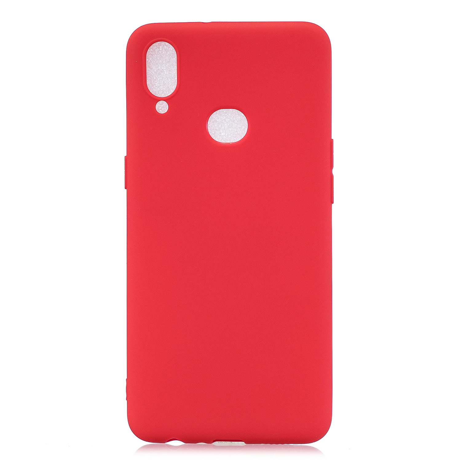 For Samsung A10S A20S Shockproof TPU Back Cover Soft Candy Color Frosted Surface Mobile Phone Case red