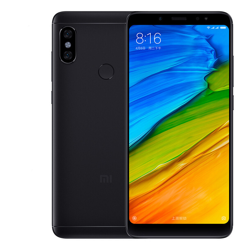 Xiaomi Redmi Note 5 Android Phone - 5.99-Inch 2K Display, Snapdragon Octa-Core CPU, 4GB RAM, 12MP Dual-Cam (Black)