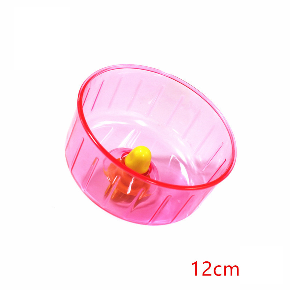12cm Silent Running Wheel Hamster Seamless Round Roller Exercise Running Toy Pet Supply