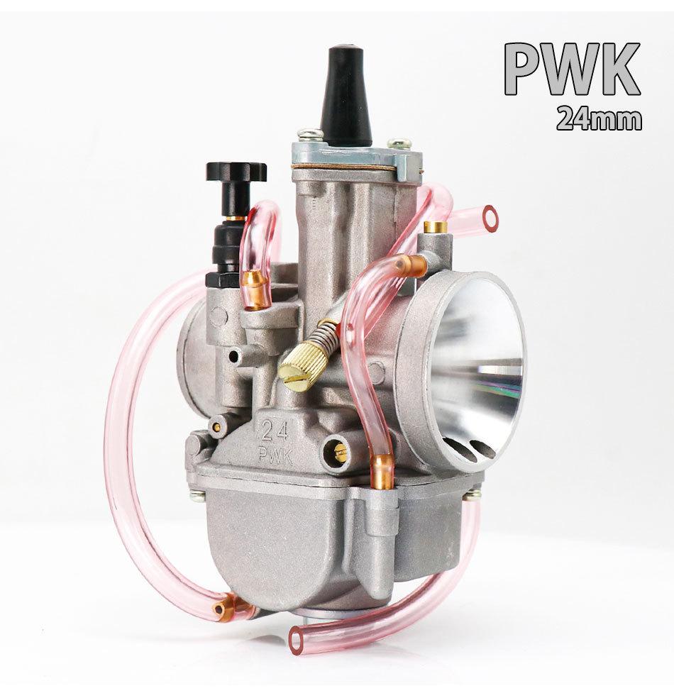 Motorcycle Carburetor PWK 21 24 26 28 30 32 34mm Carb For ATV Scooter Dirt Pit Bike 24mm