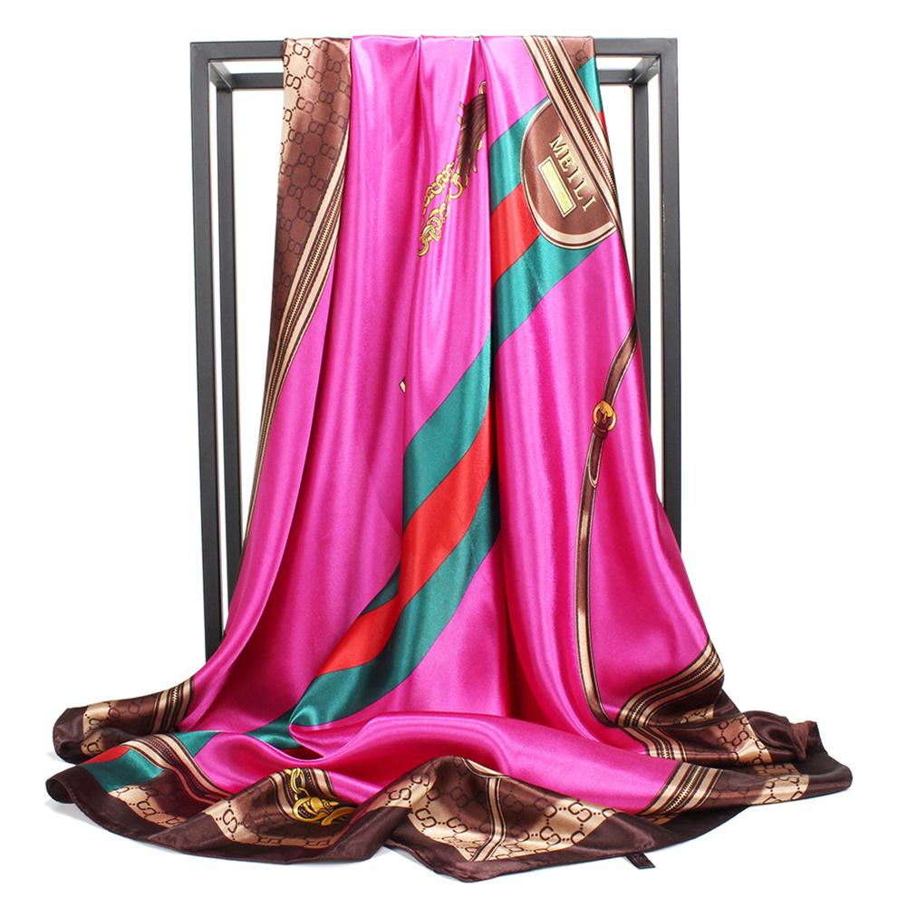 Women Fashion Vivid Color Muslim Style Smooth Scarf