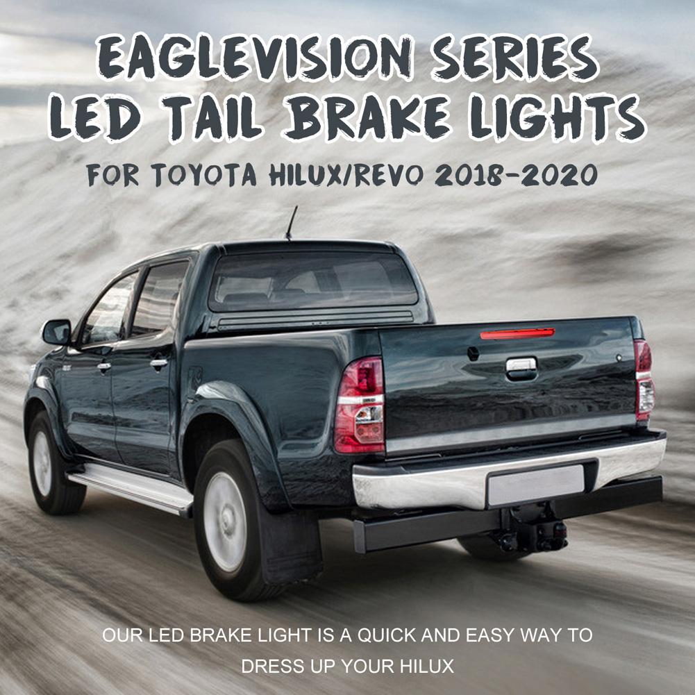 For Toyota Hilux VIGO 2018-2020 Car LED Rear Brake Light Middle Stop Third Tail High Brake Lamp Long black