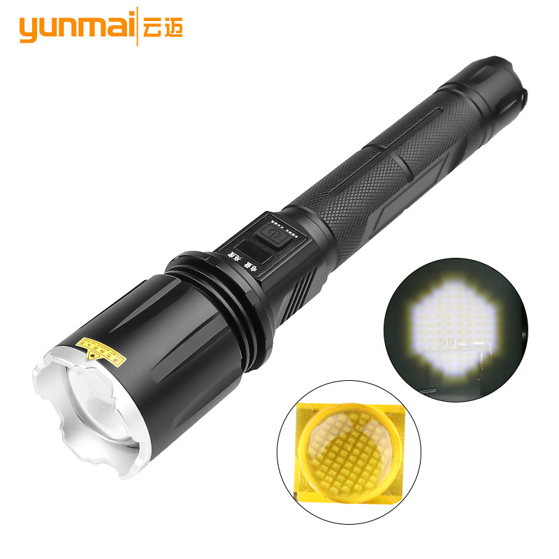 MTG2 Zoom Flashlight Usb Charging with Lcd Screen Safety Hammer Large Lens Wide Angle Flashlight flashlight