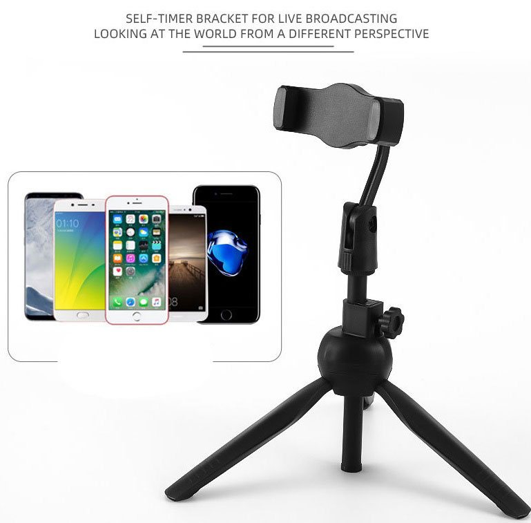 Universal Wireless Bluetooth Selfie Stick Live Tripod Monopod For Gopro For Smartphone Slr Sport Camera black