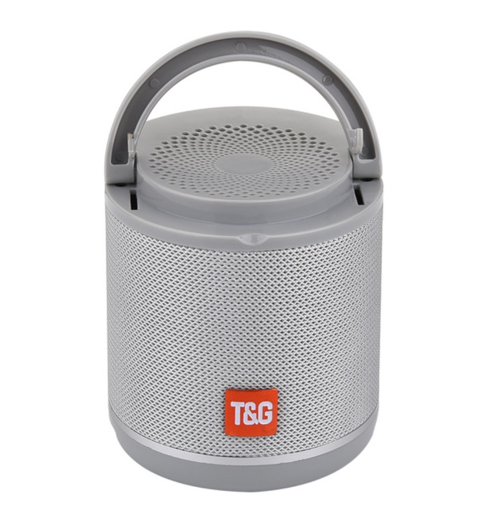 TG518 Bluetooth Speaker Phone Holder TWS Series FM Card Subwoofer Wireless Outdoor Portable Bluetooth Small Speaker Silver grey