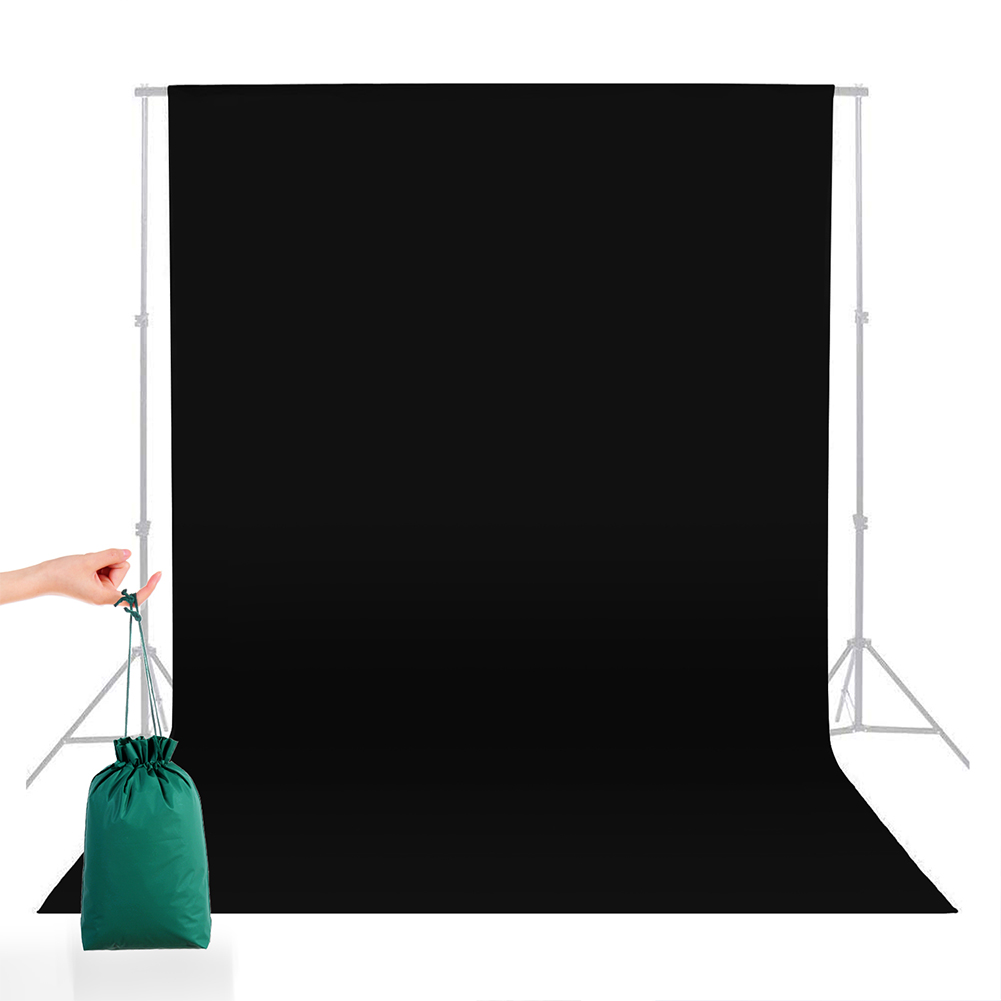 5*7FT/1.5M*2.15M  Square Cloth Nylon Green Background  Cloth For Photography Live Background black