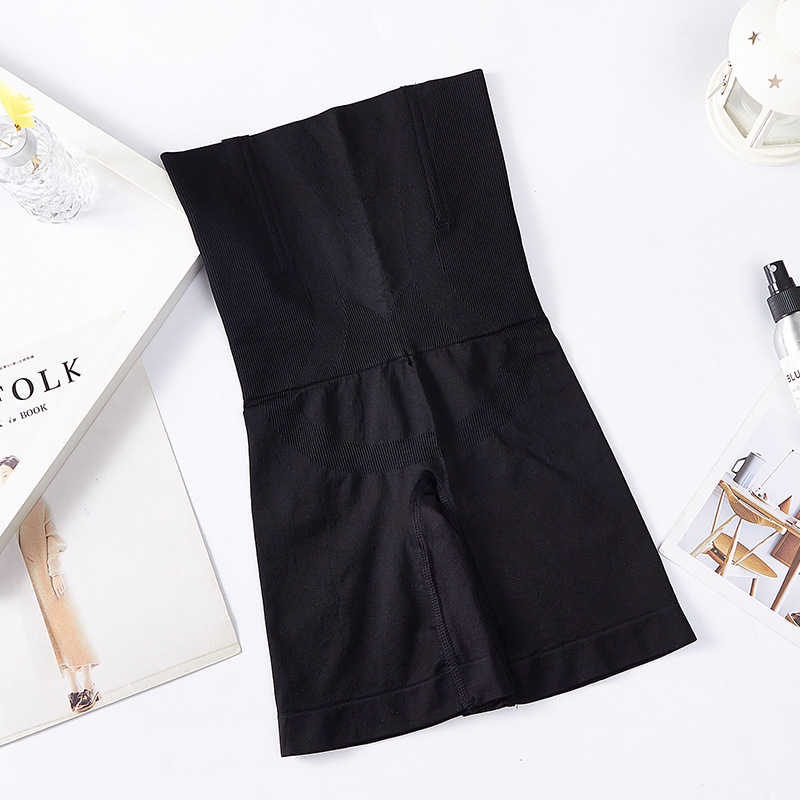 Women Body Shaper Boxer Underwear High Waist Long Slim Panties black_XS/S