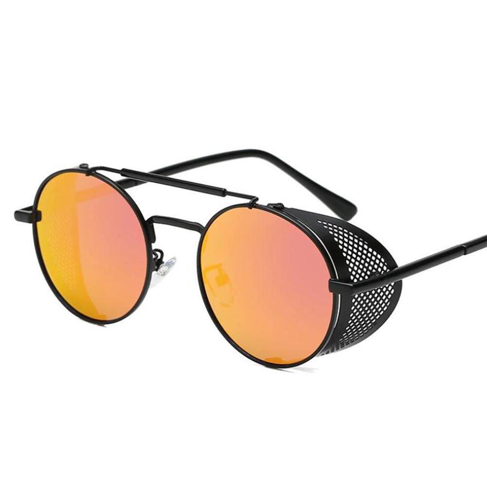 Outdoor Fashion Sunscreen Glasses TAC Lens Polarized/Not Polarized Glasses for Outdoor Sports Black frame orange red_Polarized light