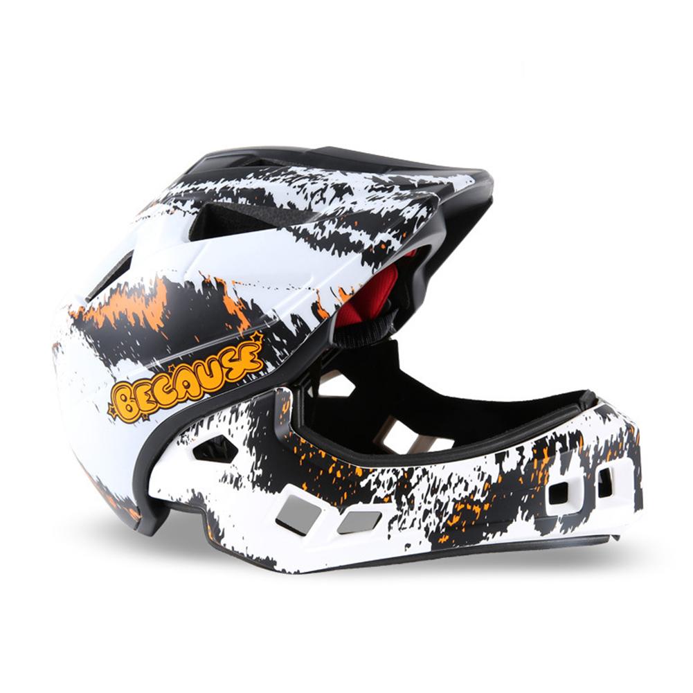 Roller Skating Helmet Children Bicycle Roler Adjustable Riding Safe Helmet Full face helmet_S
