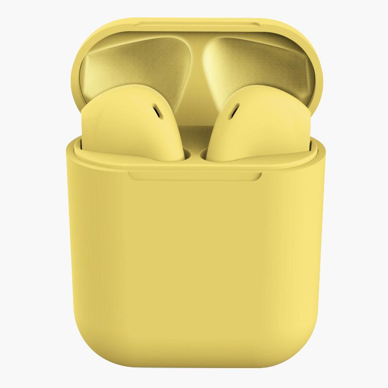 TWS Bluetooth Earphone 5.0 Wireless Headphones Sport Earbuds Headset with Mic for iPhone Xiaomi  yellow