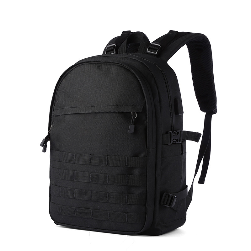 Stylish Male Casual Backpack Nylon Travel Camouflage Computer Bag Shoulder Bag black