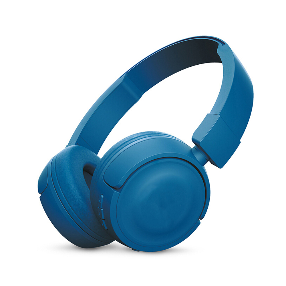 T450BT Wireless Bluetooth Headphones Flat-foldable on-Ear Headset with Mic Noise Canceling Earphone Call & Music Controls blue