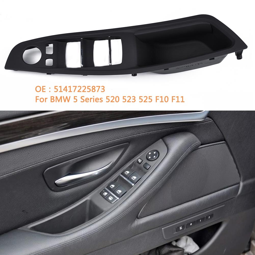Door Handle Window Switch Panel for BMW 5 Series F10 F18 520 523 525(Beige) black