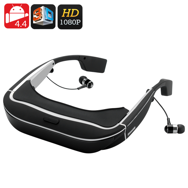 3D Android 4.4 Video Glasses