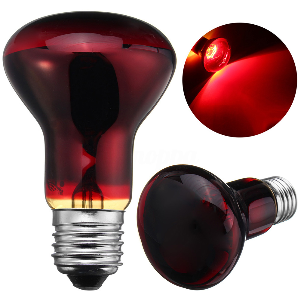 25/50/75/100W E27 Base Emitter Heater Pet Animal Reptile Brooder Heat Day Night Light Lamp  Red