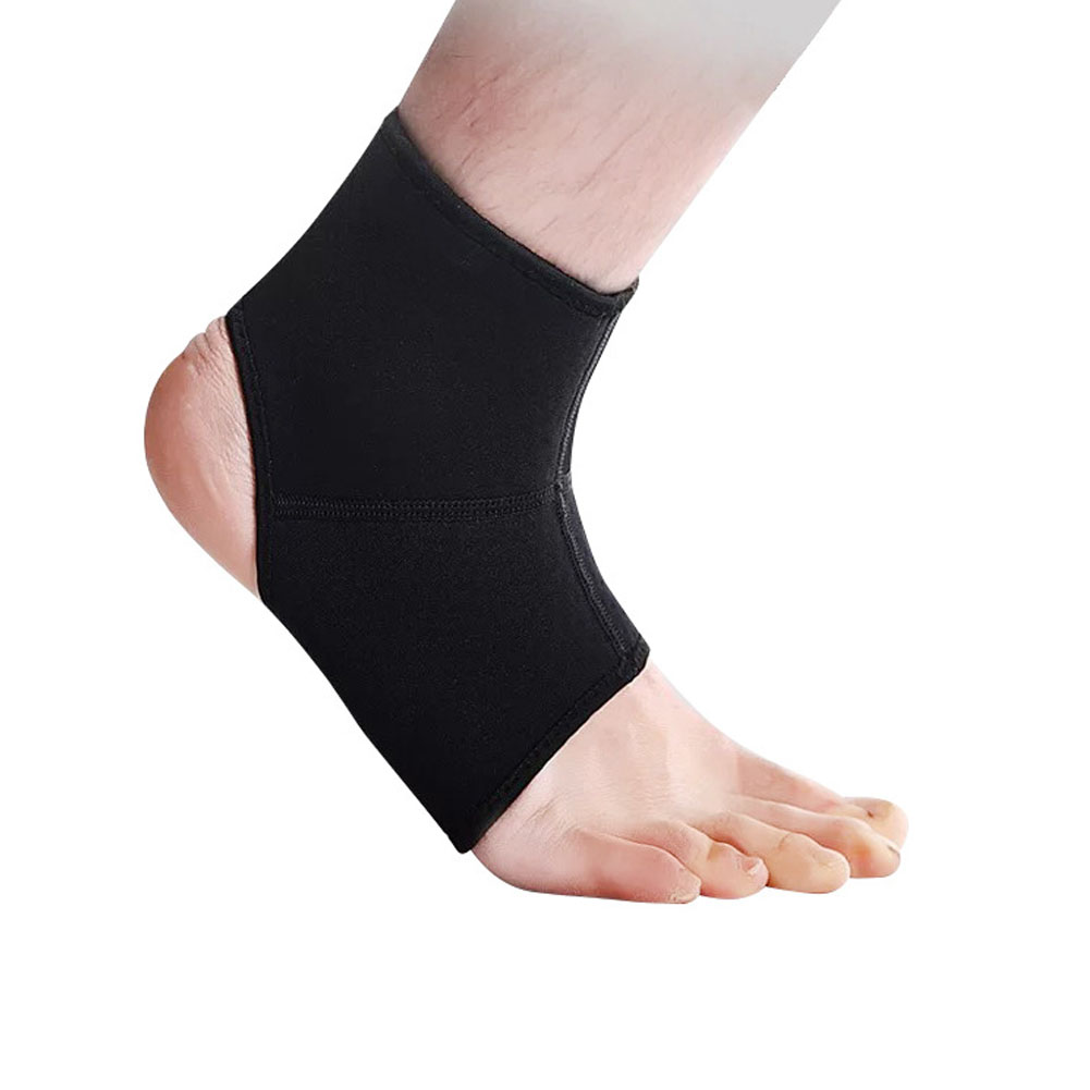 Ankle Brace Basketball Football Sprain Protection Women Running Cover Joint Fix Protective CLothing black_M