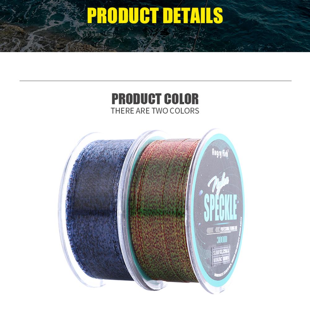 328Y/300M Nylon Speckle Fishing Line Abrasion Resistant Spot Monofilament Line  Blue spot_3.0