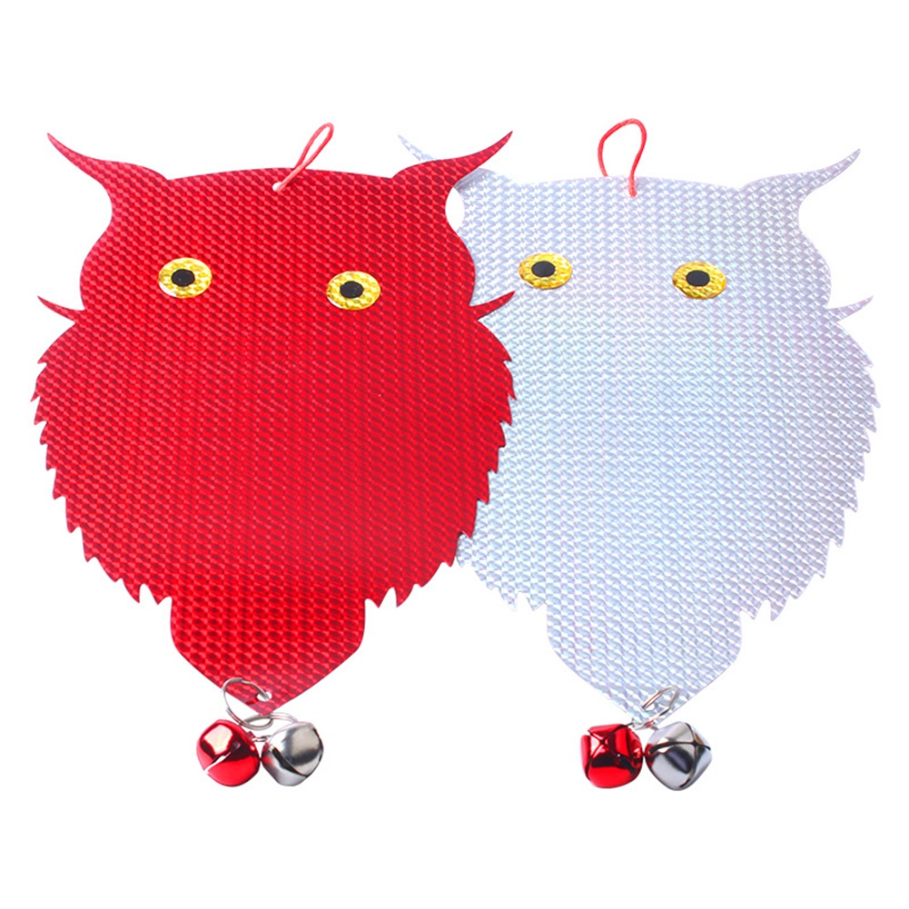 Double-sided Bird  Repellent Owl Shape Farm Vegetable Field Orchard Hanging Reflective Scarecrow Woodpecker owl