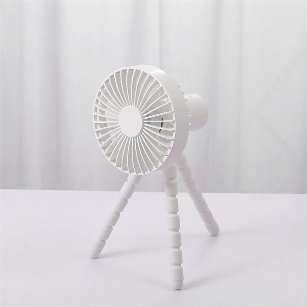 Mini Handheld Stroller Fan With Flexible Tripod For Children Office Room Car Traveling Bbq Gym Fan white_112x110x227mm