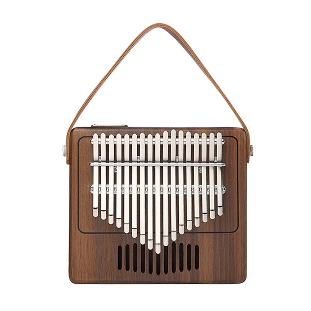 TOM TK-R1 17-key Kalimba Thumb Piano Walnut Wood Musical Instrument without Electric box