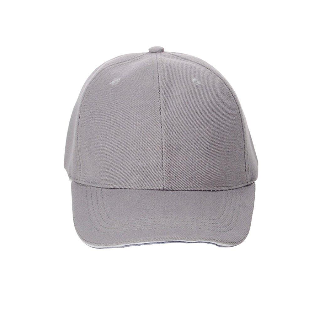 纯色棒球鸭舌帽 灰色