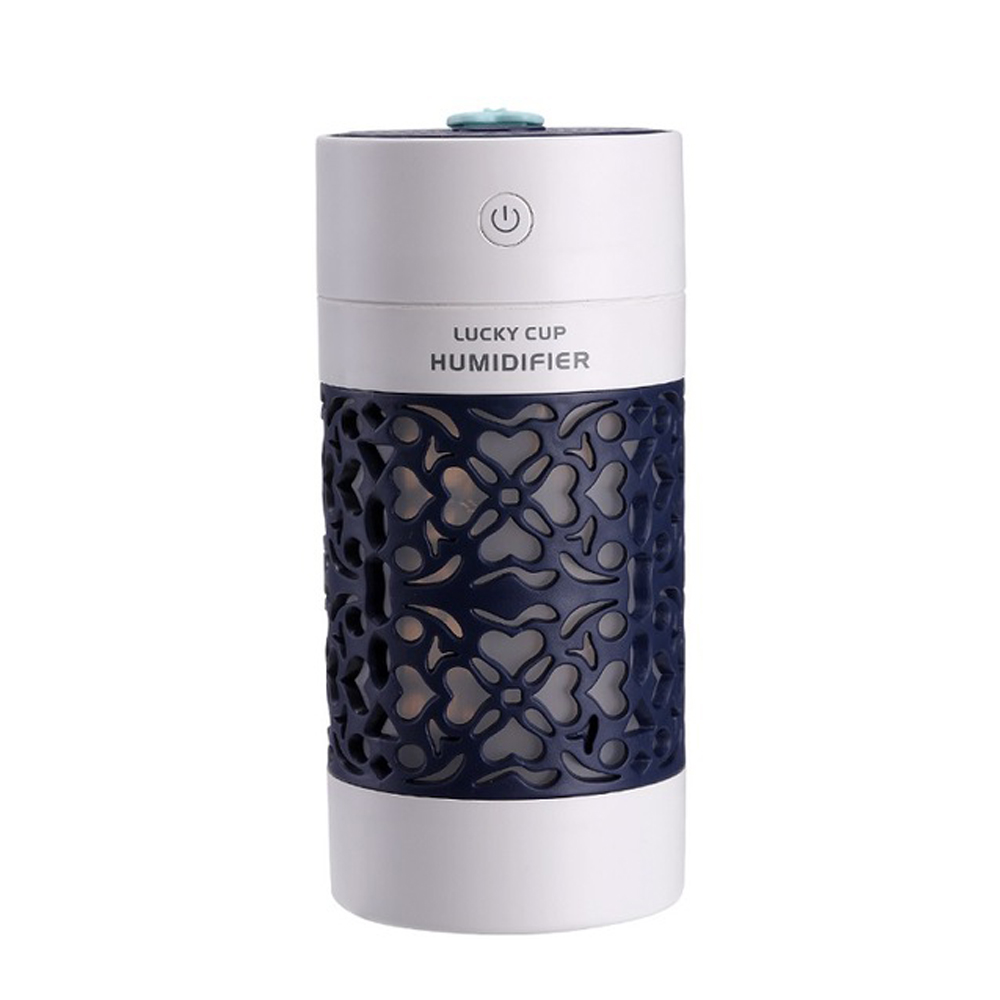 LED Lucky Cup Mini USB Air Humidifier Ultrasonic Office Home Car Humidifier Navy blue_USB