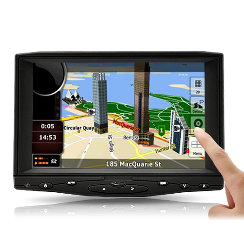 7 Inch Car LCD Monitor with HDMI, AV and VGA