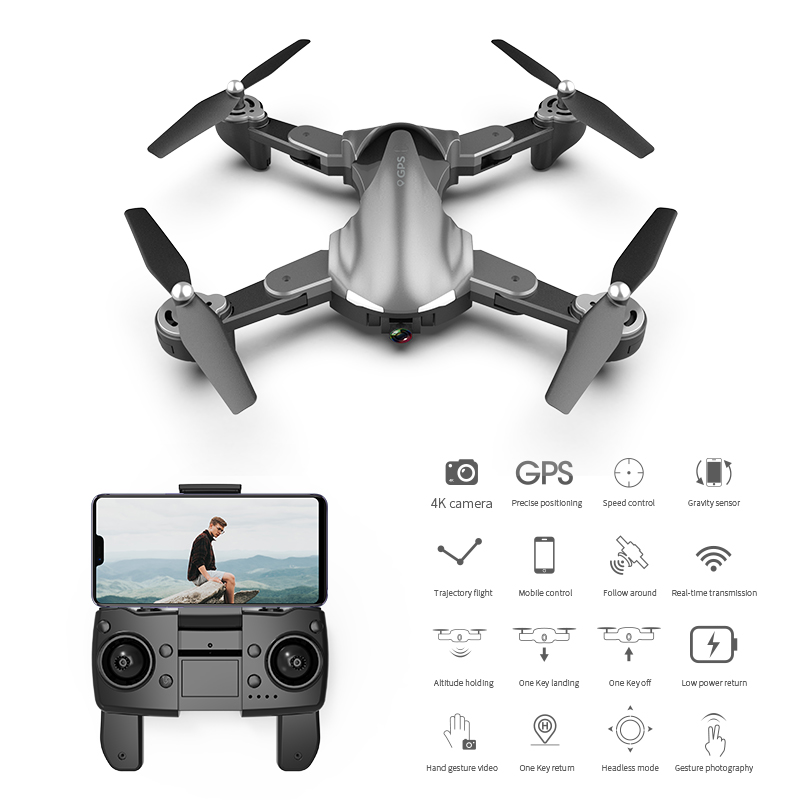 A19 Drone Gps 4k 5g Wifi Live Video Fpv Quadrotor Flight 15 Minutes Rc Distance 300m Drone 1 battery