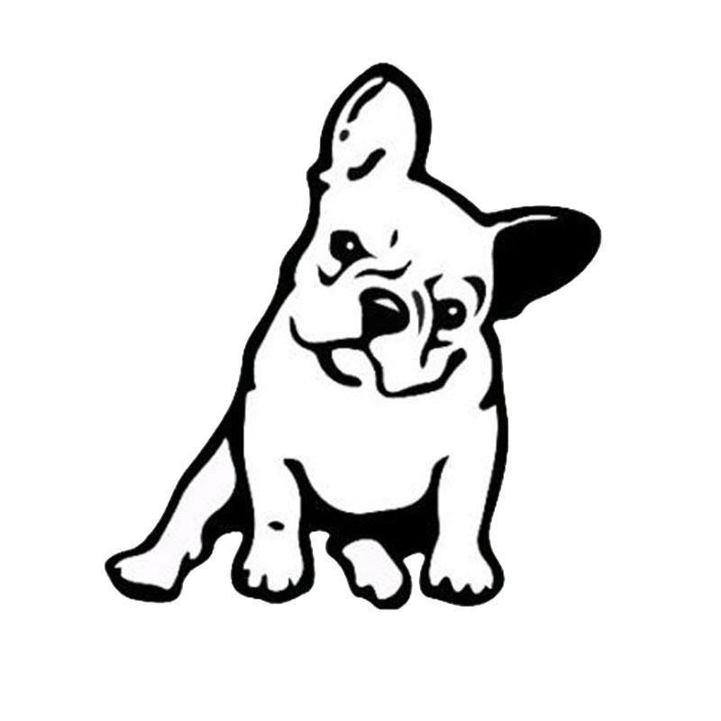 Fashion French Bulldog Dog Car Sticker Car Decoration black
