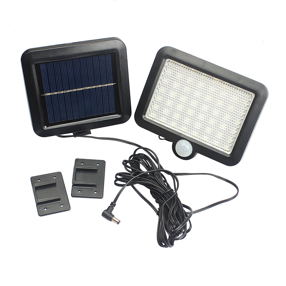 100LEDs Solar Charging Wall Light with COB Lamp Beads Human Body Induction for Outdoor Garage 56LED lamp bead