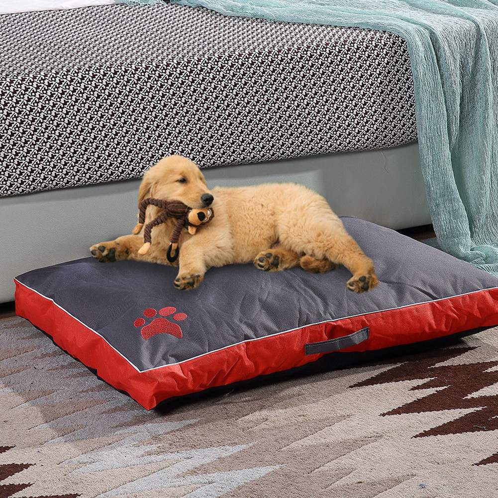 Summer Waterproof Removable Cover Pet Sleepling Cushion for Dogs red_85X55X8CM