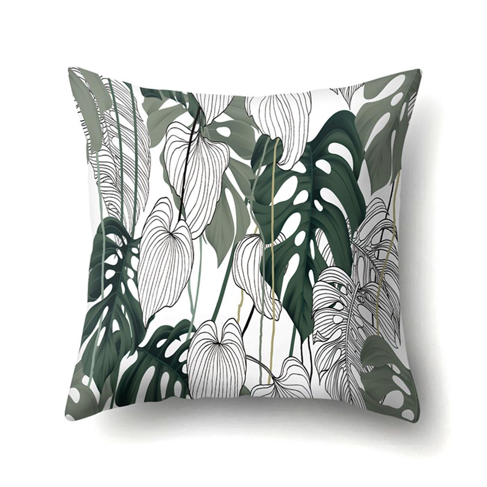 Tropical Plants Leaves Pillowcase Banana Leaf Palm Leaf Cushion Cover Home Decor CCA407(16)