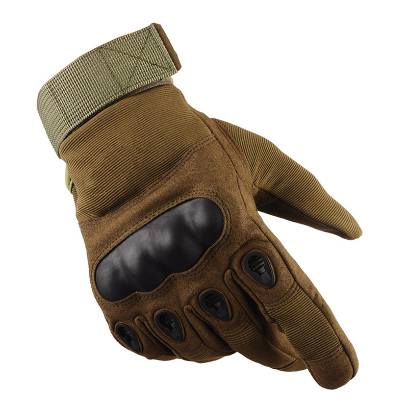 Tactical Operator Military Pro Anti-skid Gloves Outdoor Cycling Hiking Full Cover Finger Sport Glove Green _M