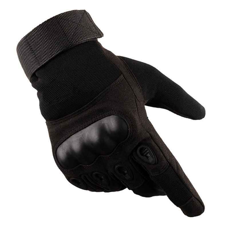 Tactical Operator Military Pro Anti-skid Gloves Outdoor Cycling Hiking Full Cover Finger Sport Glove Black _M
