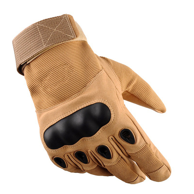 Tactical Operator Military Pro Anti-skid Gloves Outdoor Cycling Hiking Full Cover Finger Sport Glove Sand color_M