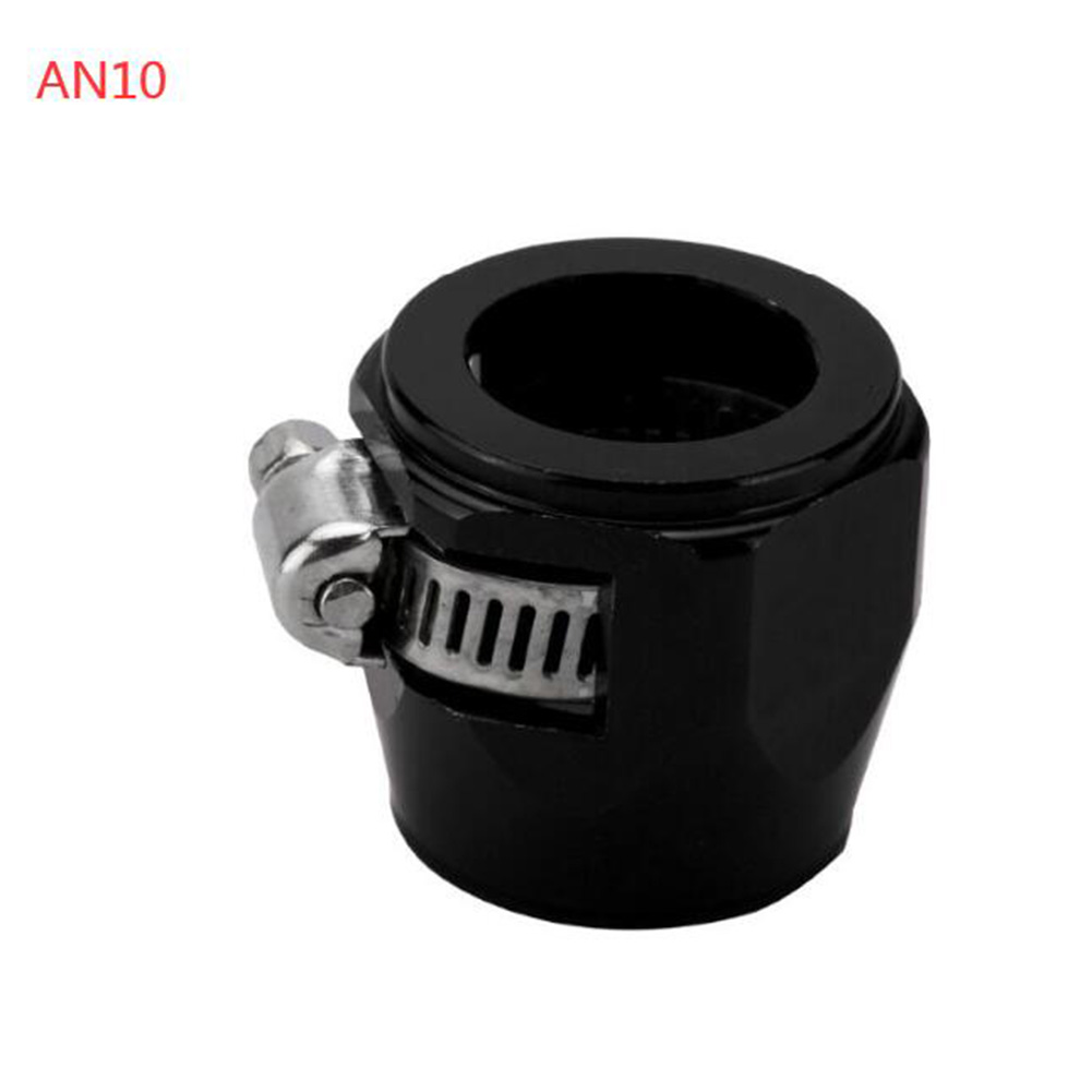 AN4 AN6 AN8 AN10 AN12 Car Hose Finisher Clamp Radiator Modified Fuel Pipe Clip Buckle Black-AN10