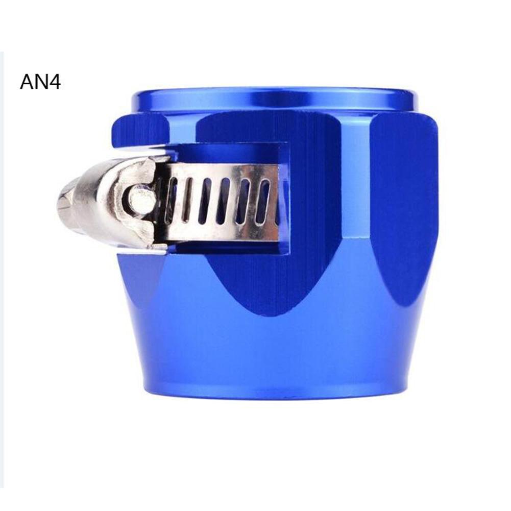 AN4 AN6 AN8 AN10 AN12 Car Hose Finisher Clamp Radiator Modified Fuel Pipe Clip Buckle Blue-AN4