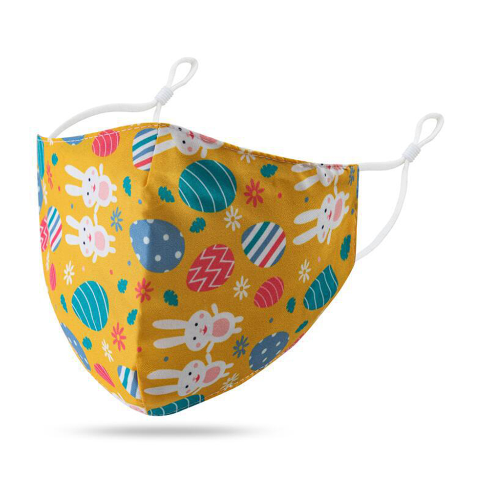 Children Mask Cotton Dustproof Breathable Washable Adjustable Ear Buckle Mask For Boys And Girls 7#_free size