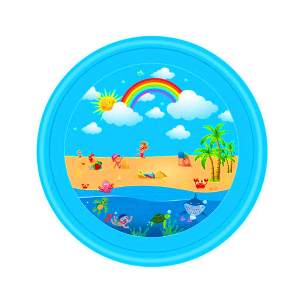 68inch Outdoor Lawn Game Mat Cartoon Pattern Water Spray Toy for Kids Boys Girls Rainbow spray mat 170cm