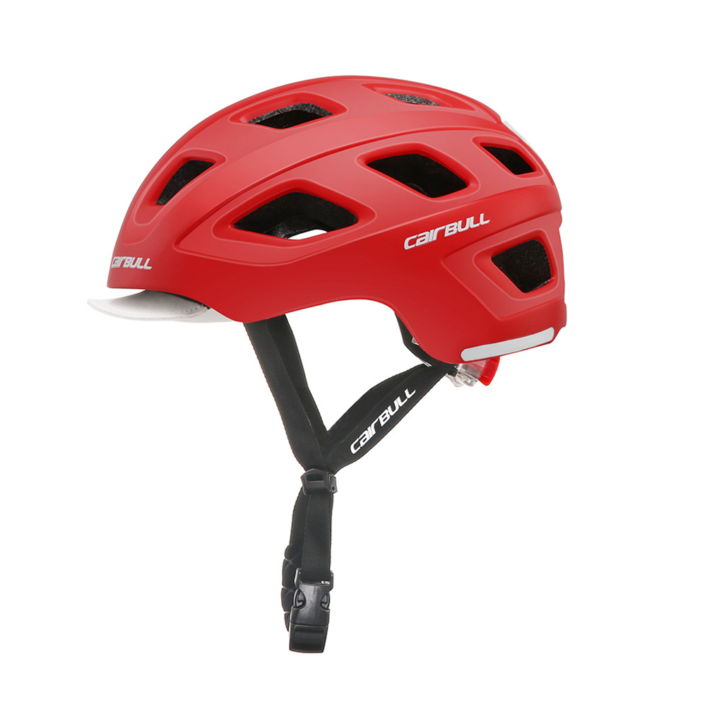 Outdoor Casual Commuting Lightweight Helmet Road Skatboard Cycling Moutain Riding Safety Helmets Bicycle Breathable Helmet red_M (54-58CM)