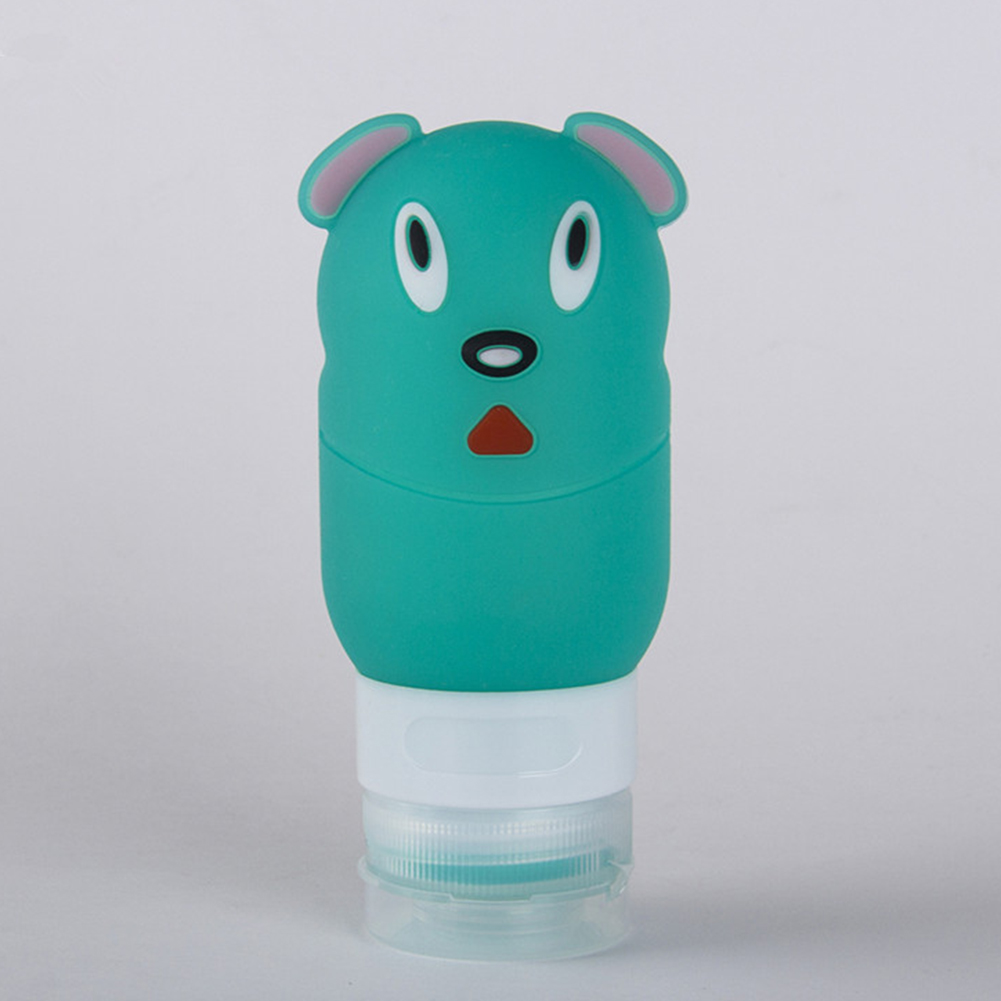 Portable Silicon Travel Bottle Cute Dog Shape Empty Container Cosmetic Carry-on Jar
