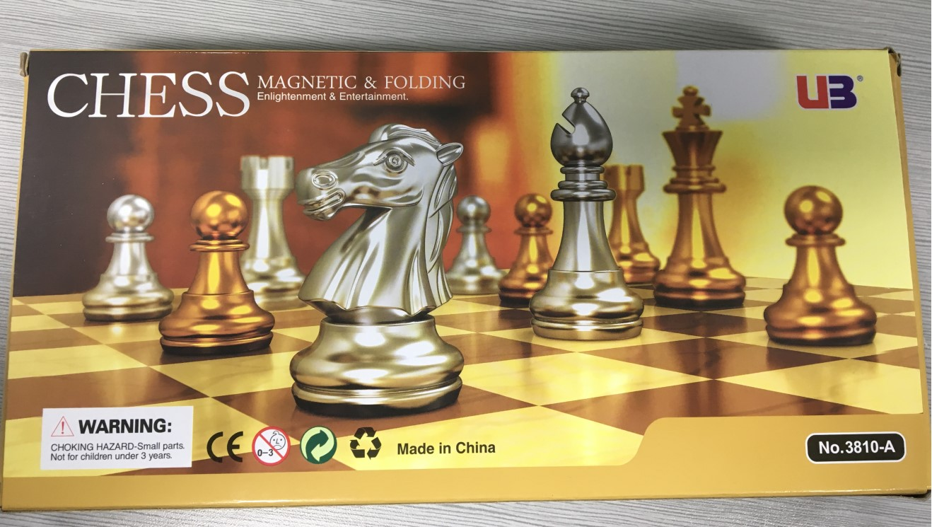 38810 Small Magnetic Chess Set Travel Chess Set With Folding Board Portable Chessboard A